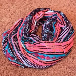 Multi-patterned Forever 21 infinity scarf
